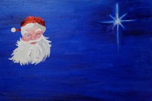Santa and star